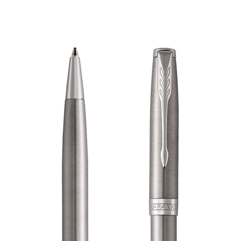Długopis Parker Sonnet Stalowy CT w przekroju
