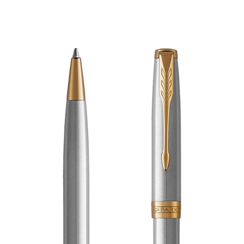 Długopis Parker Sonnet Stalowy GT w przekroju