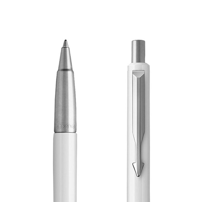 Długopis Parker Vector Biały CT w przekroju